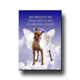 Miniature Pinscher Guardian Angel Fridge Magnet No1 Dog