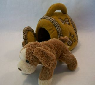 Animal Alley Toys R Us Plush Kennel With Dog Puppy 6 Miniature