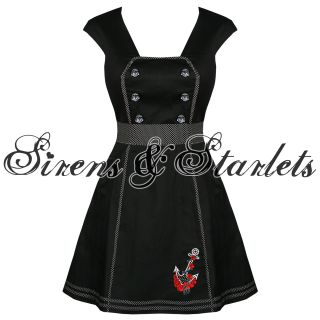 Souls New Ladies Rockabilly Nautical Tattoo Anchor Sailor Dress