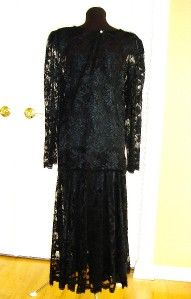 Nili Richards 2 Piece Black Lace Dress Womens 16