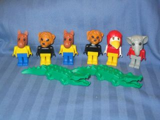 Lego Duplo Vintage Animals Fabuland Figures Horse Lion Crow Elephant