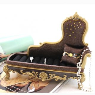 Lounge Chair Ring Holder Brown Metallic Leopard Print Animal