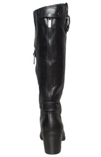Anne Klein Womens Boots Brenton Black Leather Sz 6 5 M