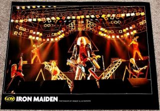 Iron Maiden Eddie 1985 Live in Concert Tribute Poster