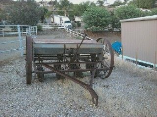 Antique Farm Equipment Horse Drawn Seeder