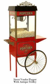 New Antique Style Commercial Quality Popcorn Machine