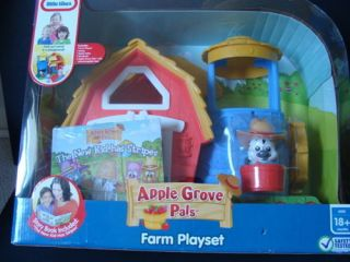 LITTLE TIKES Apple Grove Pals Farm Playset Storybook Barn Animals