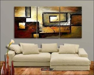 HOT SALE MODERN ABSTRACT HUGE WALL ART OIL PAINTING ON CANVAS +FREE