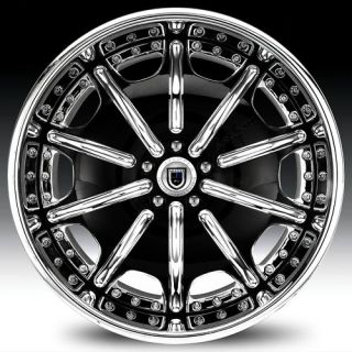 20 asanti AF204 Black Chrome Wheels Rims 3 Piece