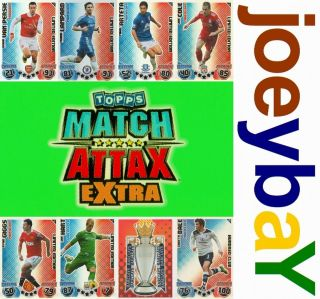 Choose 10 11 Extra Hundred Club or Limited Edition Match Attax Card