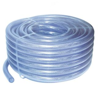 2M Reinforced Clear PVC Braided Hose Water Pipe Flexible Plastic