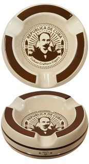 Cuban Crafters Clasico Round Cigar Ashtray Holds 3 Cigars Brand New