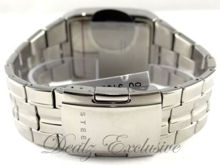 GUESS U10014G1 Real DIAMOND Stainless Steel Bracelet Mens Watch