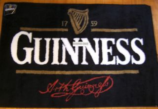 Arthur Guinness Signature Extra Stout Irish Beer Harp Pub Mat Bar Sign