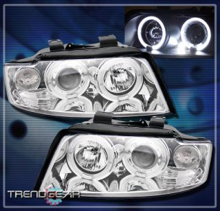 2002 2005 Audi A4 S4 Halo LED Projector Headlight Lamp Clear 2003 2004