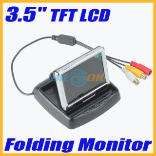TFT LCD Mini Car Auto Vehicle Monitor Folded Car VCR DVD Security