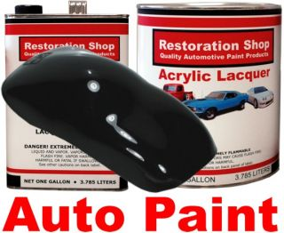Super Gloss Jet Black Acrylic Lacquer Car Auto Paint KT