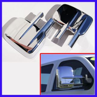 GMC Silverado Sierra Towing Mirror Covers Chrome 2pcs Set