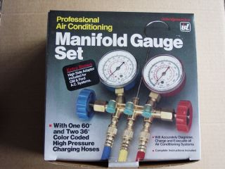 Interdynamics Air Conditioning Manifold Gauge Set with instructions