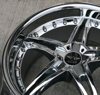 Avarus AV5 19 Chrome Rims Wheels E39 E60 5 Series