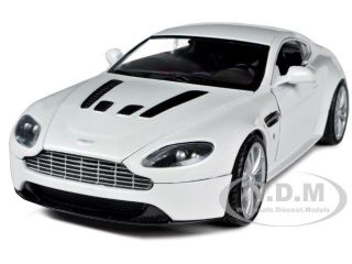 Aston Martin Vantage V12 Pearl White 1 24 Diecast Model Car by