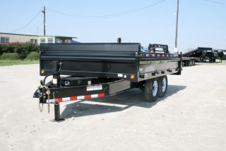 Bumper Pull Hydraulic Dump / Disaster Recovery Trailer / 7,000# Axles