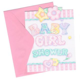 Baby Girl Shower Quilt Baby Shower Invitation Cards