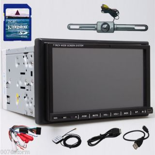Ouku 2 DIN 7 Car GPS DVD CD Radio Player USB SD Aux iPod Bluetooth