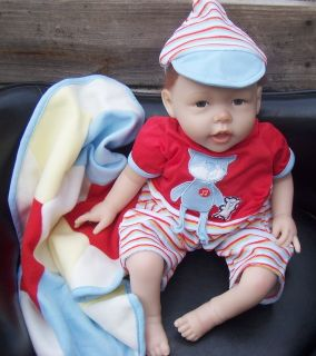 Reborn Baby Boy Dolls Lifelike Kids with Rooted Hair and Soft Body