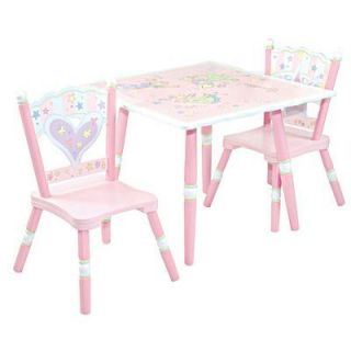 Child Toddler Fairy Wishes Pink Purple Table Chair Set