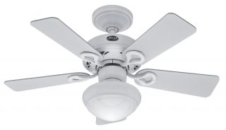 Hunter The Bainbridge 36 Ceiling Fan Model 20422 in Textured White