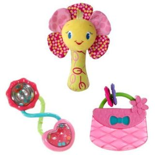 Bright Starts Pretty in Pink Playtime Fun Toy Bundle Pink