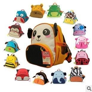 Cartoon Animals Baby Toddlers Child Kids Backpack School Bags