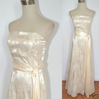 DARLIN $170 Ivory Ball Evening Formal Gown 9 NWT