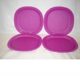Tupperware Impressions Microwave Safe Lunch Dinner Plates Set of 4