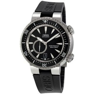 Oris Titan Divers Small Second Rubber Band Mens Watch 643 7638 7454RS