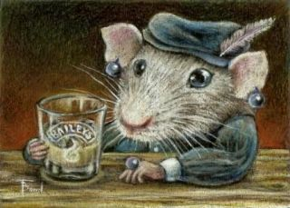 RAT baileys LIQUOR baylis bailys fridge LARGE MAGNET bar IRISH PUB art