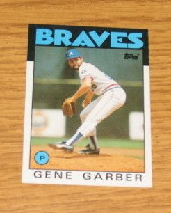 1986 Topps Baseball Trading Card 776 Gene Garber Braves