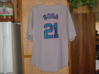 Vtg Sammy Sosa Chicago Cubs MLB Throwback Jersey LRG 48