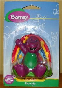 Wilton Barney Dinosaur Birthday Cake Candle Rainbow Party