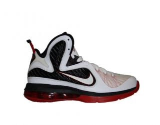 White Sport Red Black Big Kids Basketball Shoes 472664 100 IX