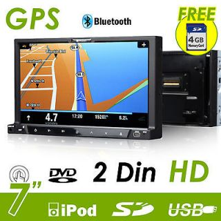 G2223U In Dash 7 LCD Double 2 Din Car Stereo GPS Nav USB DVD Player US