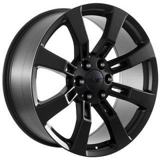 22 inch black wheels rims GMC 2009 Yukon Denali Sierra trucks SUV