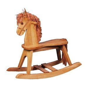 Wood Wooden Rocking Horse Kids Baby Chair Seat Toy Babies Toys Seats
