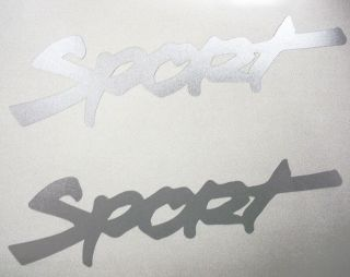 JEEP  SPORT  X 2 DECAL STICKER WRANGLER RUBICON CJ TJ   BRIGHT