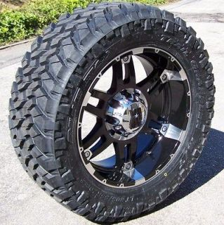 20 BLACK XD SPY WHEELS RIMS 33 NITTO TRAIL GRAPPLER DODGE RAM 1500