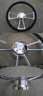 1969 94 CHEVY Car Truck Billet steering wheel and Billet adapter with