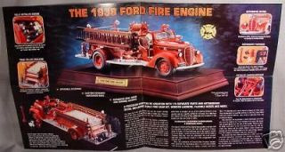 franklin mint 1938 ford fire engine sales brochure time left
