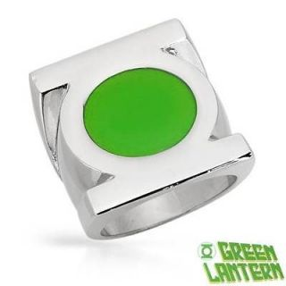 GREEN LANTERN Stainless Steel Unisex Ring Size 10 Weight 19.5g. Free