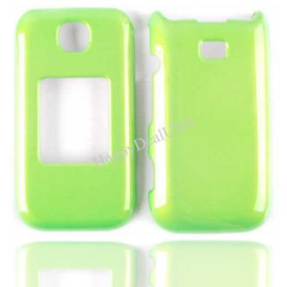 Cover for SPRINT SAMSUNG M370 Faceplate Protector Case P Lime Green